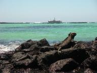 RV Knorr off Galapagos