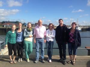 Stef, Nadine, Sasha, Markus, Maryam, Sebastian, and Irena during the 2014 HOSST/TOSST summer school
